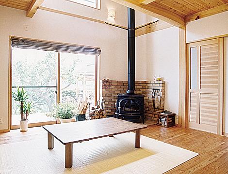 薪ストーブのある家 自然素材にこだわった家  (S 様邸)